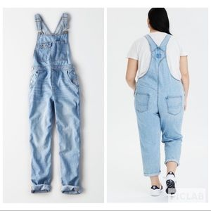 AEO high waisted overalls